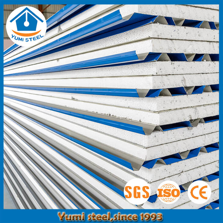 50mm Colorful Steel EPS Roof Sandwich Panels
