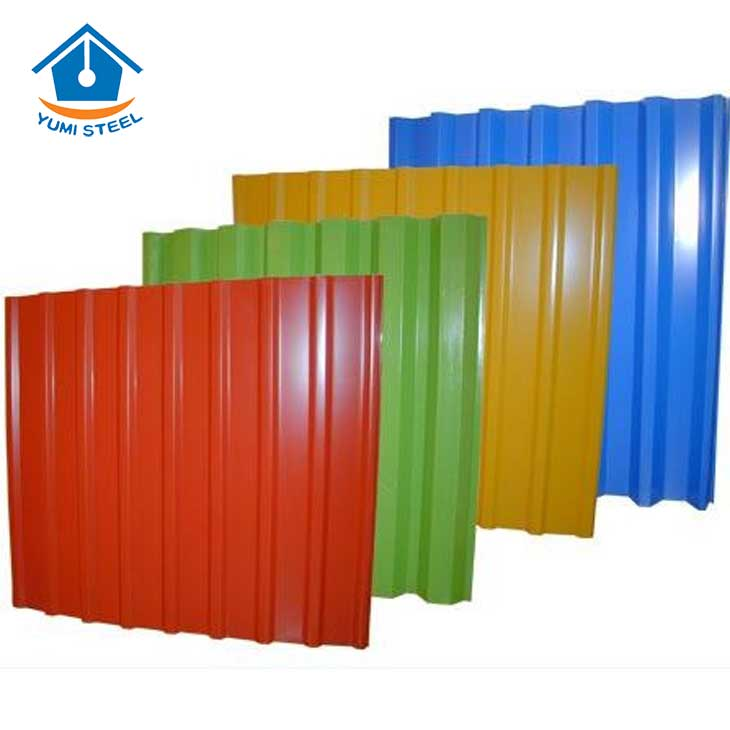 Corrugated Galvanized PE Coating Color Steel Sheet