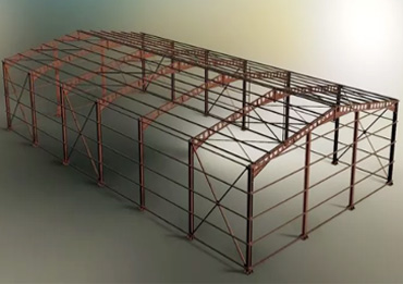 Steel structure-layout of roof purlin