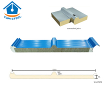 75mm Fireproof Rockwool Sandwich Roofing Panel with PU Edges