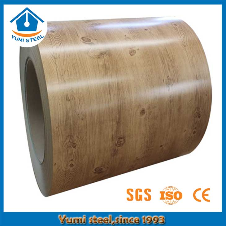 China Galvalume Pre-painted Aluminum Steel Coil with Wood Grain