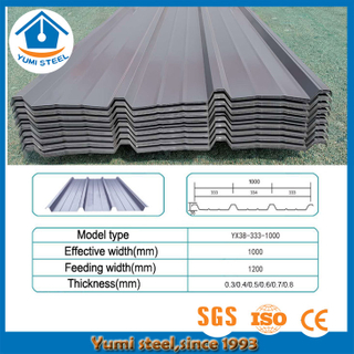 Facilitate Drainage Corrugated Coated Color Steel Cladding