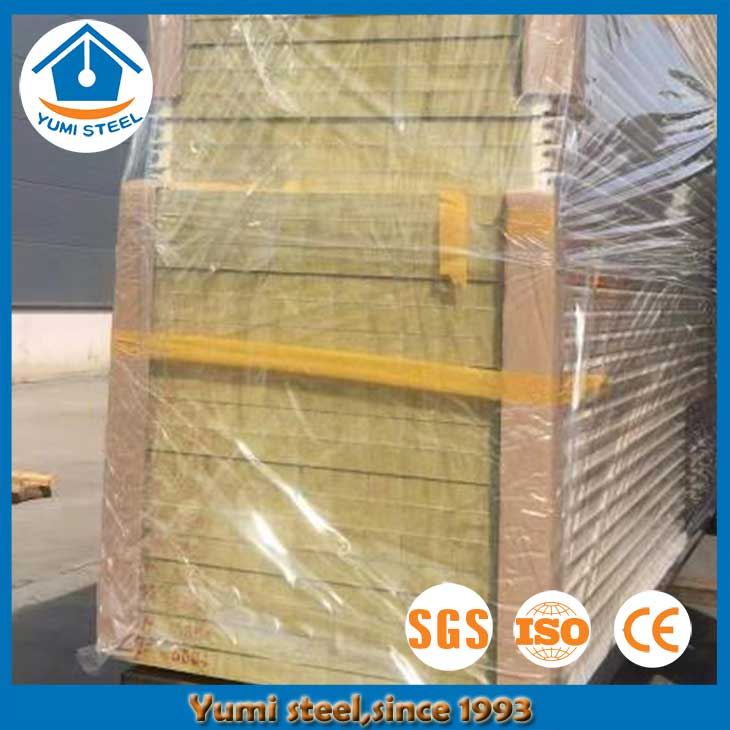 60mm Concealed Joint Soundproof Rockwool Sandwich Panels Wall