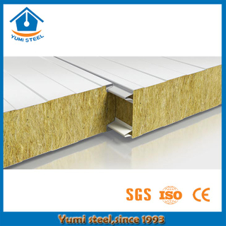 Thermal Insulation Fireproof Rockwool Sandwich Wall Panel